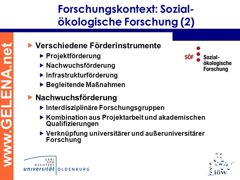 Forschungskontext: Sozial-ökologische Forschung (2)