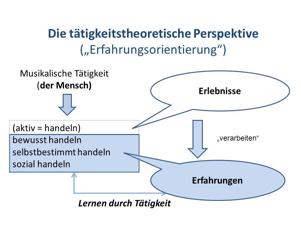 Die tätigkeitstheoretische Perspektive