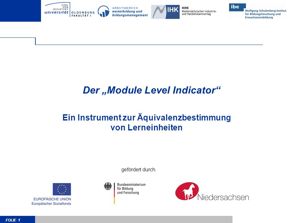 "Der ""Module Level Indicator"