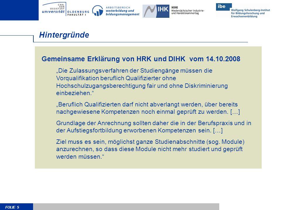 Hintergründe Gemeinsame Erklärung von HRK und DIHK vom 14.10.2008