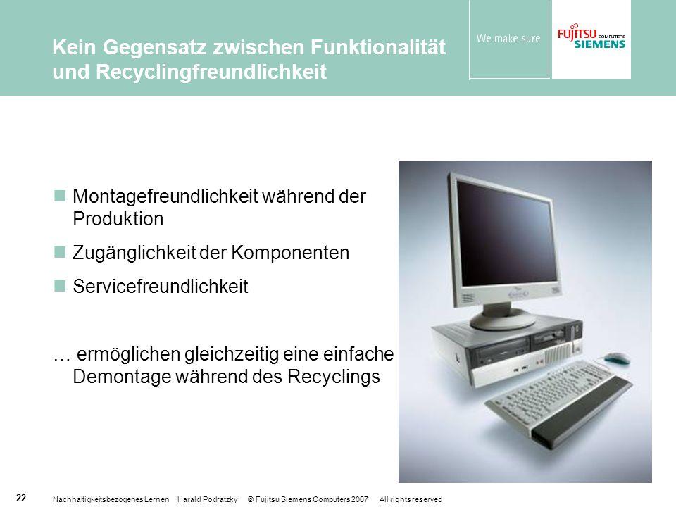 Kein Gegensatz zwischen Funktionalität und Recyclingfreundlichkeit