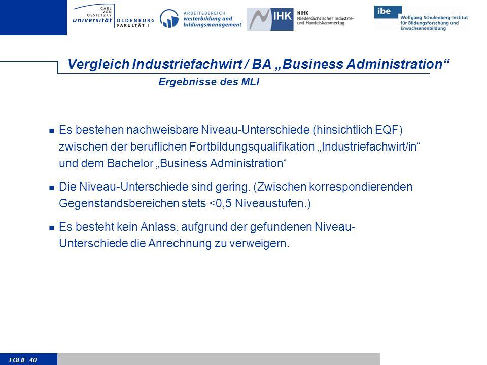 """Vergleich Industriefachwirt / BA """"Business Administration"""