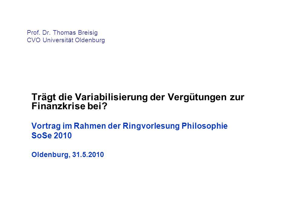 Prof. Dr. Thomas Breisig CVO Universität Oldenburg