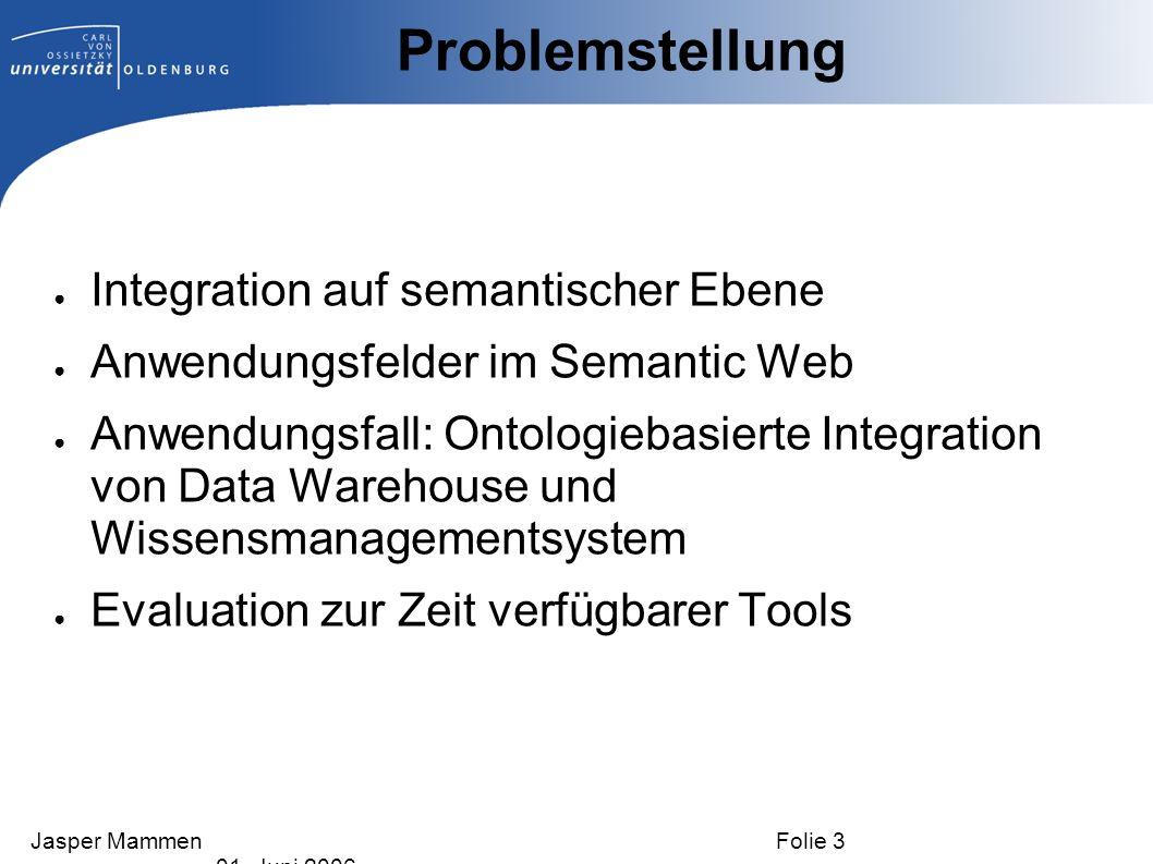 Problemstellung Integration auf semantischer Ebene