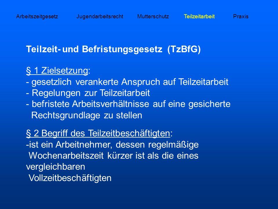 Teilzeit- und Befristungsgesetz (TzBfG)
