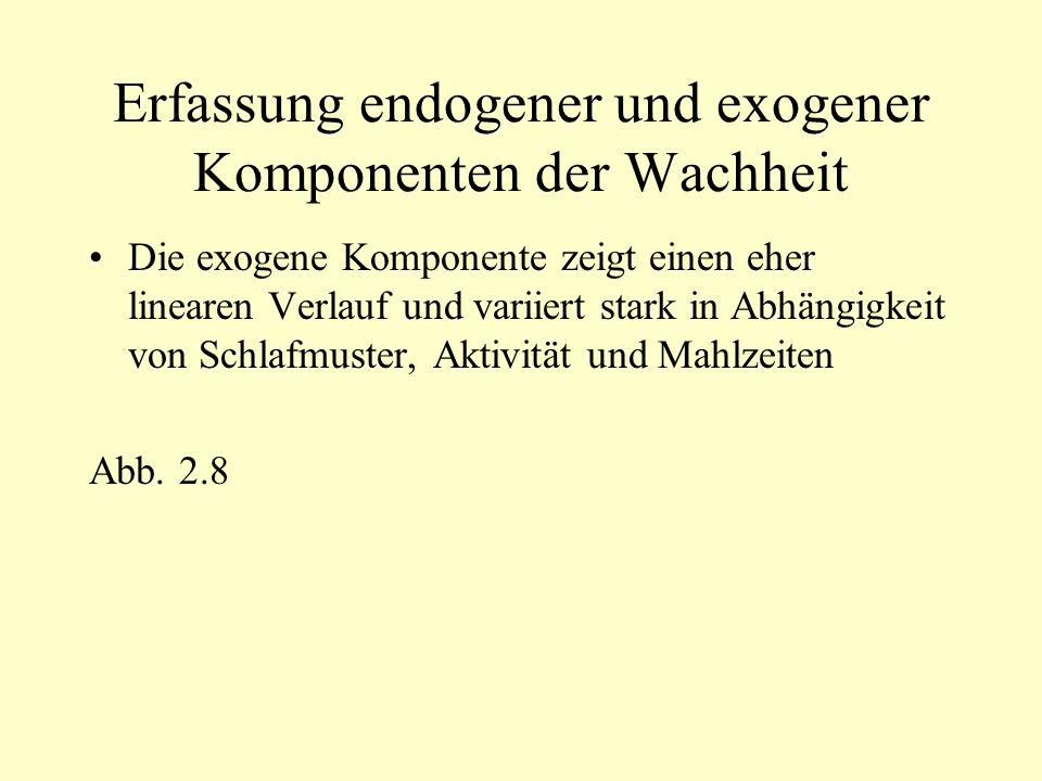 Erfassung endogener und exogener Komponenten der Wachheit