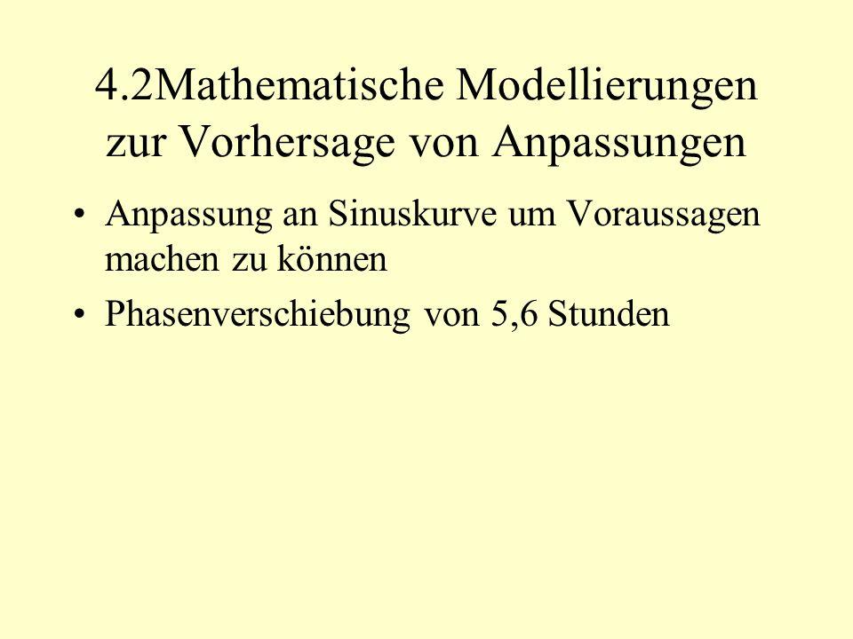 4.2Mathematische Modellierungen zur Vorhersage von Anpassungen