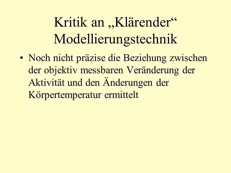"""Kritik an """"Klärender Modellierungstechnik"""