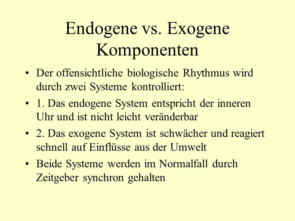 Endogene vs. Exogene Komponenten