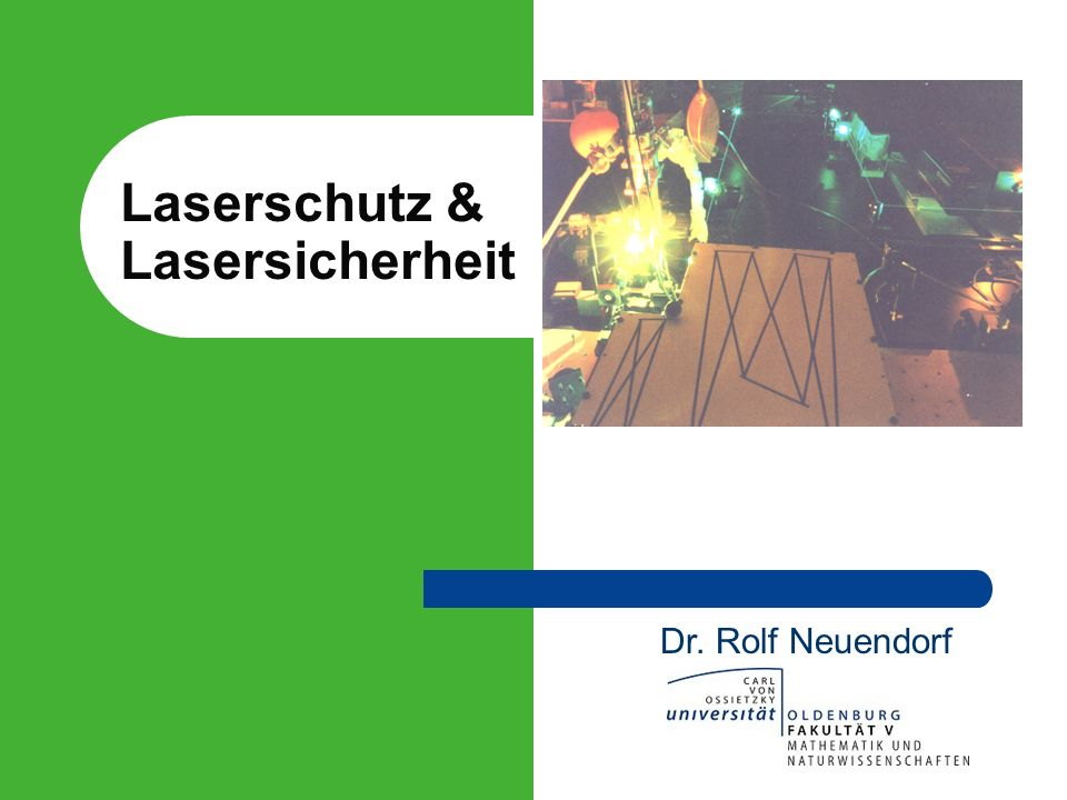 Laserschutz & Lasersicherheit