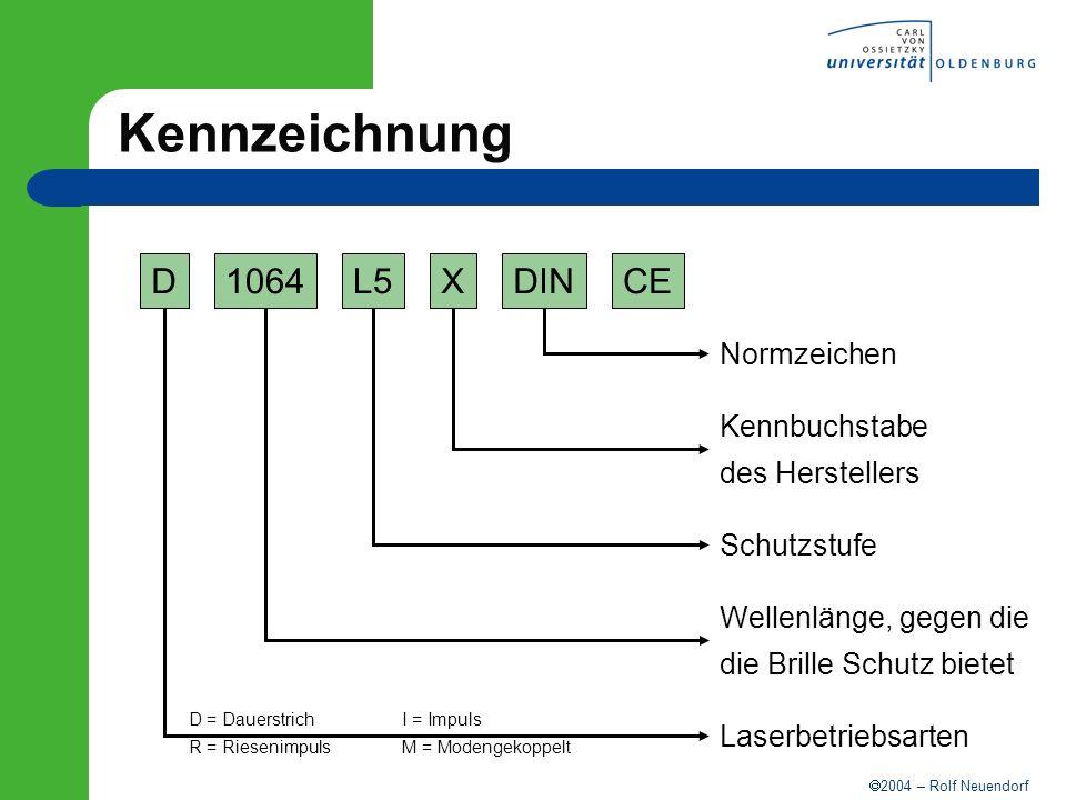 Kennzeichnung D 1064 L5 X DIN CE Normzeichen Kennbuchstabe