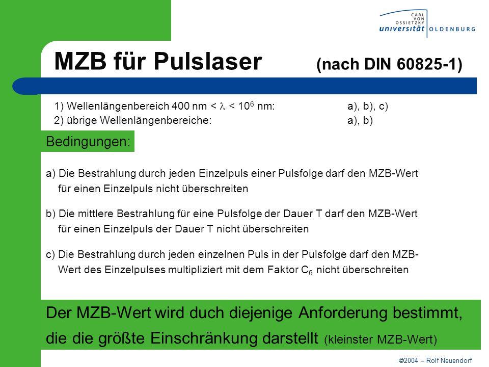 MZB für Pulslaser (nach DIN 60825-1)