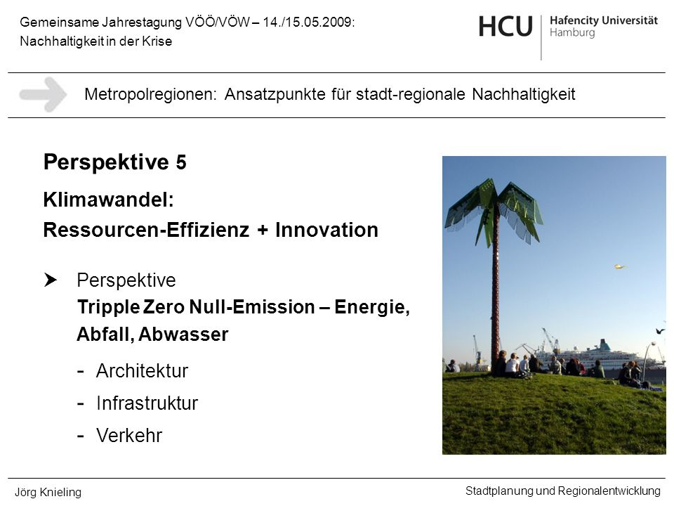 Klimawandel: Ressourcen-Effizienz + Innovation