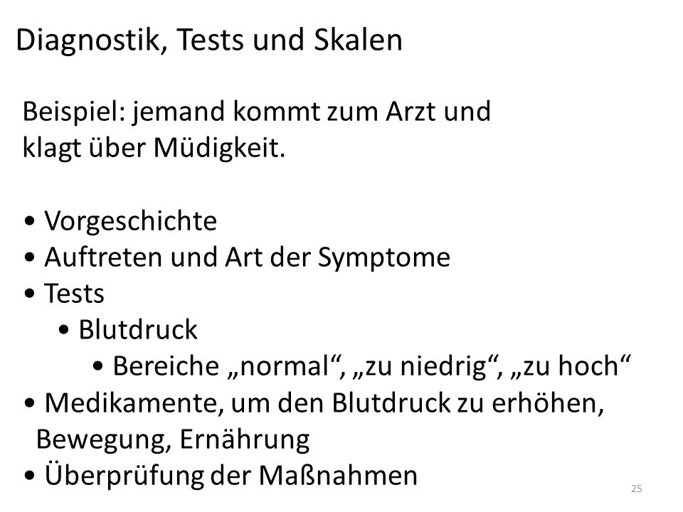 Diagnostik, Tests und Skalen