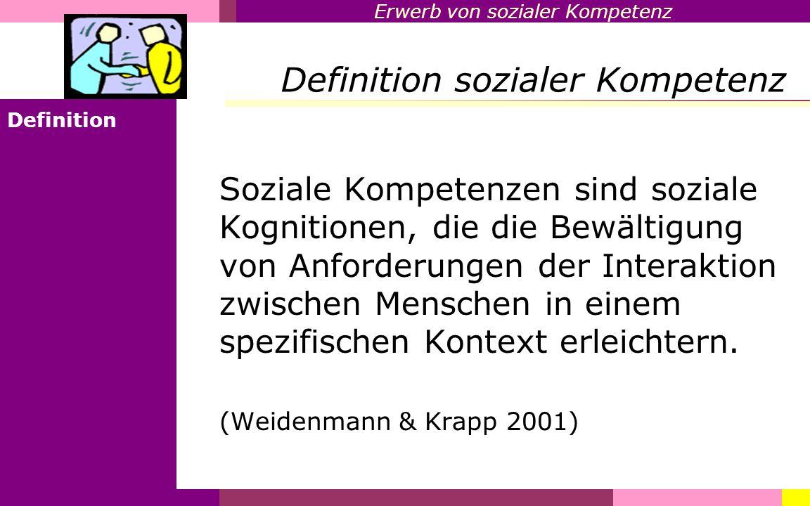 Definition sozialer Kompetenz