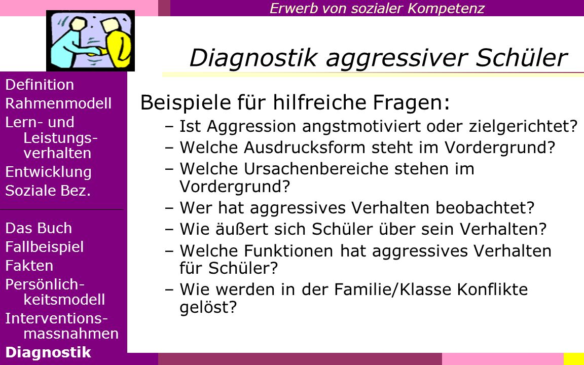 Diagnostik aggressiver Schüler