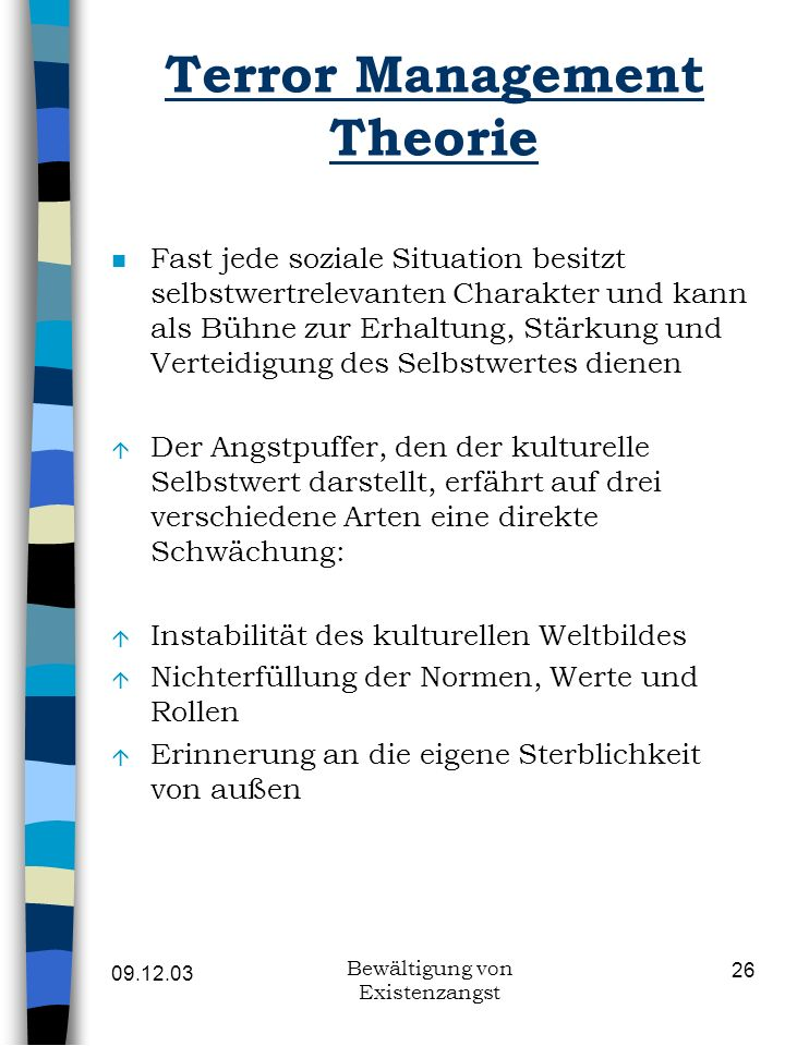 Terror Management Theorie