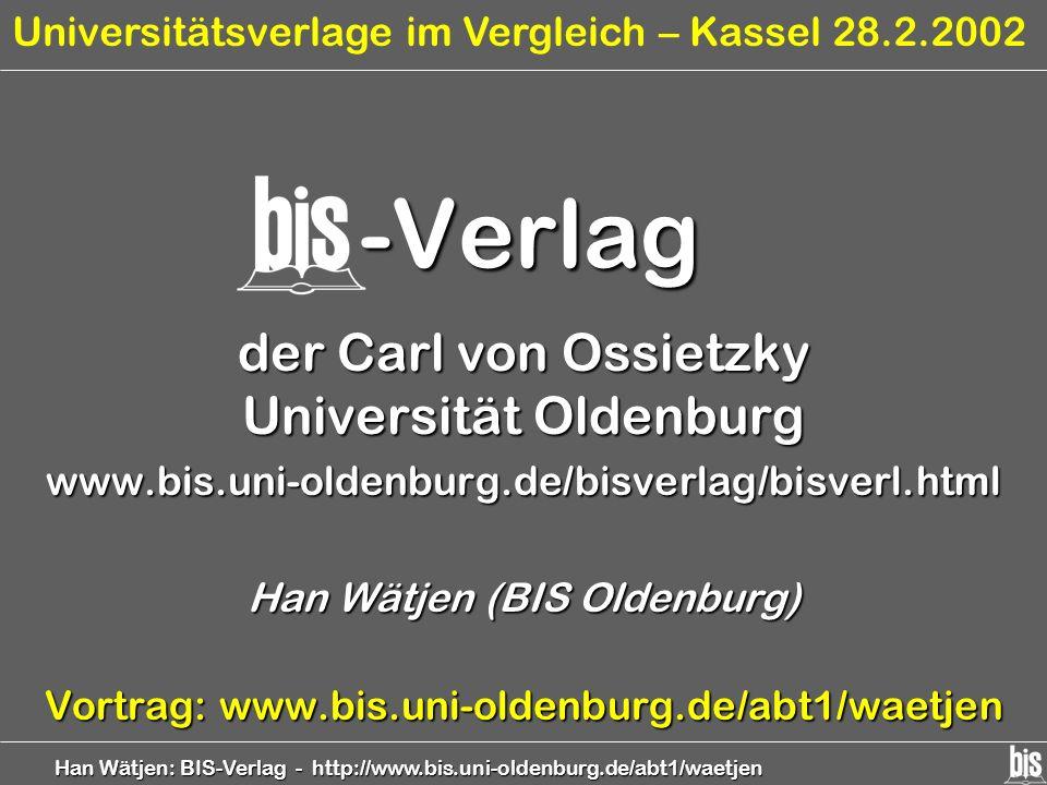 -Verlag der Carl von Ossietzky Universität Oldenburg