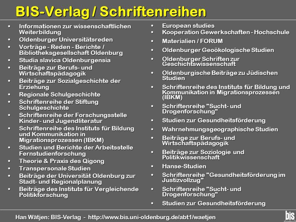 BIS-Verlag / Schriftenreihen