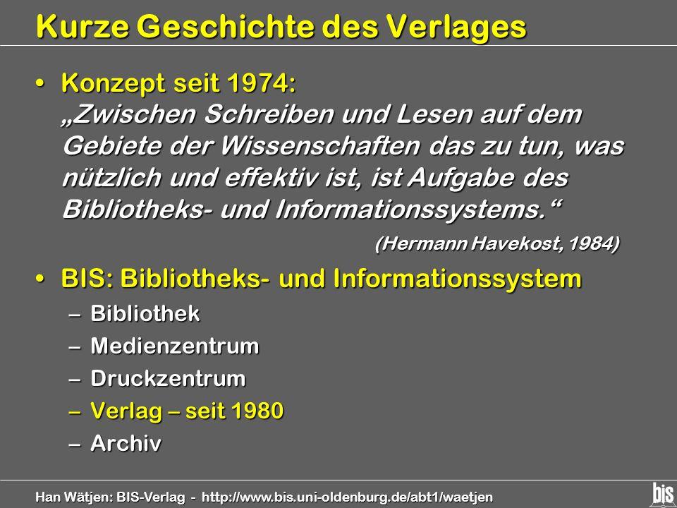 Kurze Geschichte des Verlages
