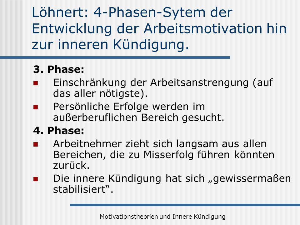 Motivationstheorien und Innere Kündigung