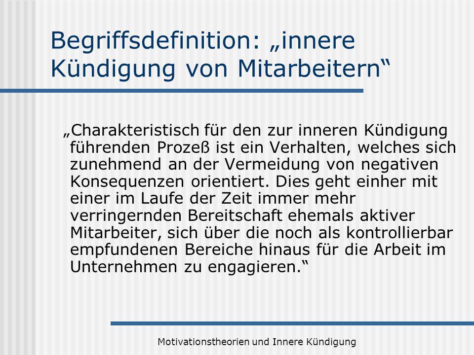 """Begriffsdefinition: """"innere Kündigung von Mitarbeitern"""