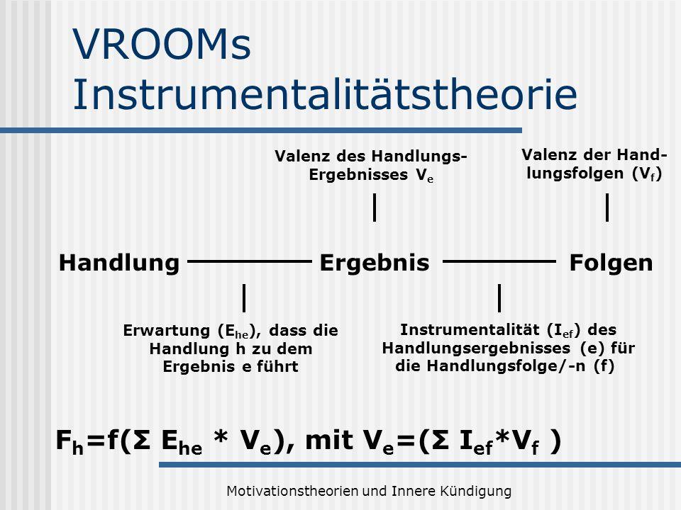 VROOMs Instrumentalitätstheorie