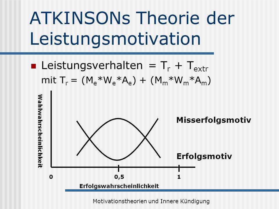 ATKINSONs Theorie der Leistungsmotivation