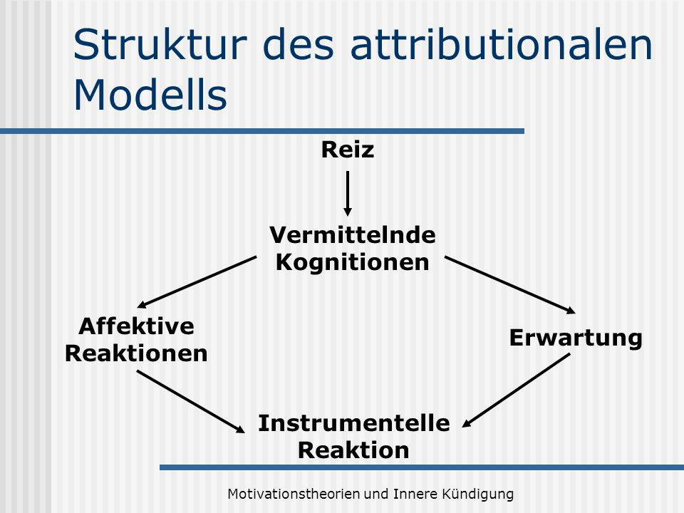 Struktur des attributionalen Modells
