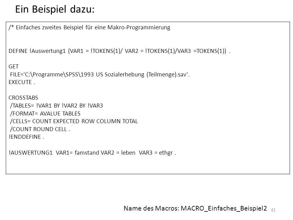Ein Beispiel dazu: Name des Macros: MACRO_Einfaches_Beispiel2