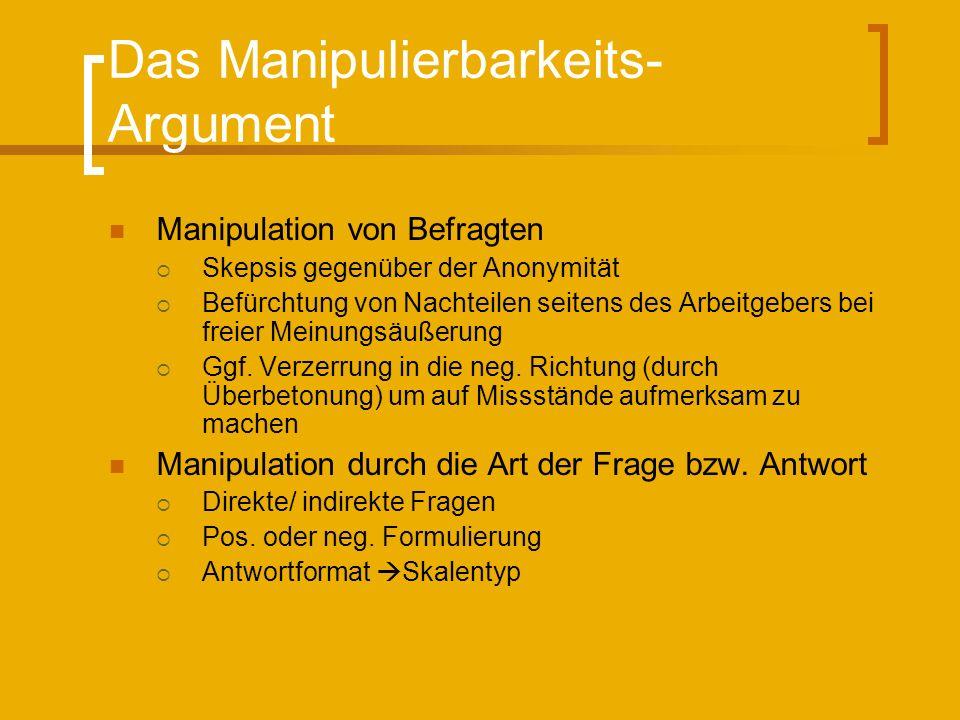 Das Manipulierbarkeits-Argument