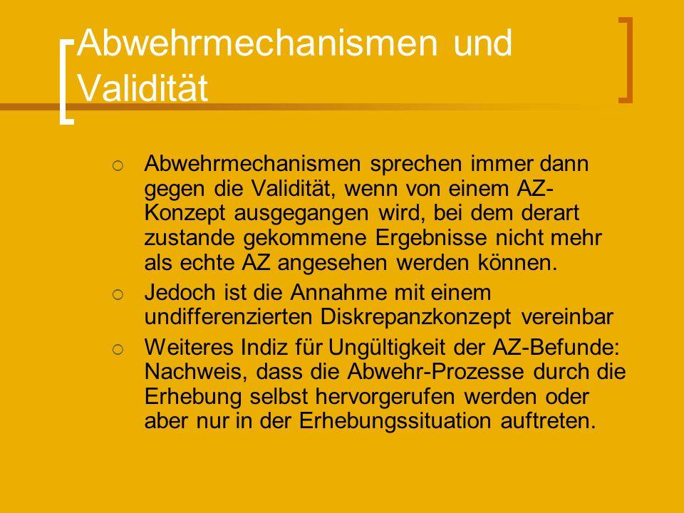 Abwehrmechanismen und Validität