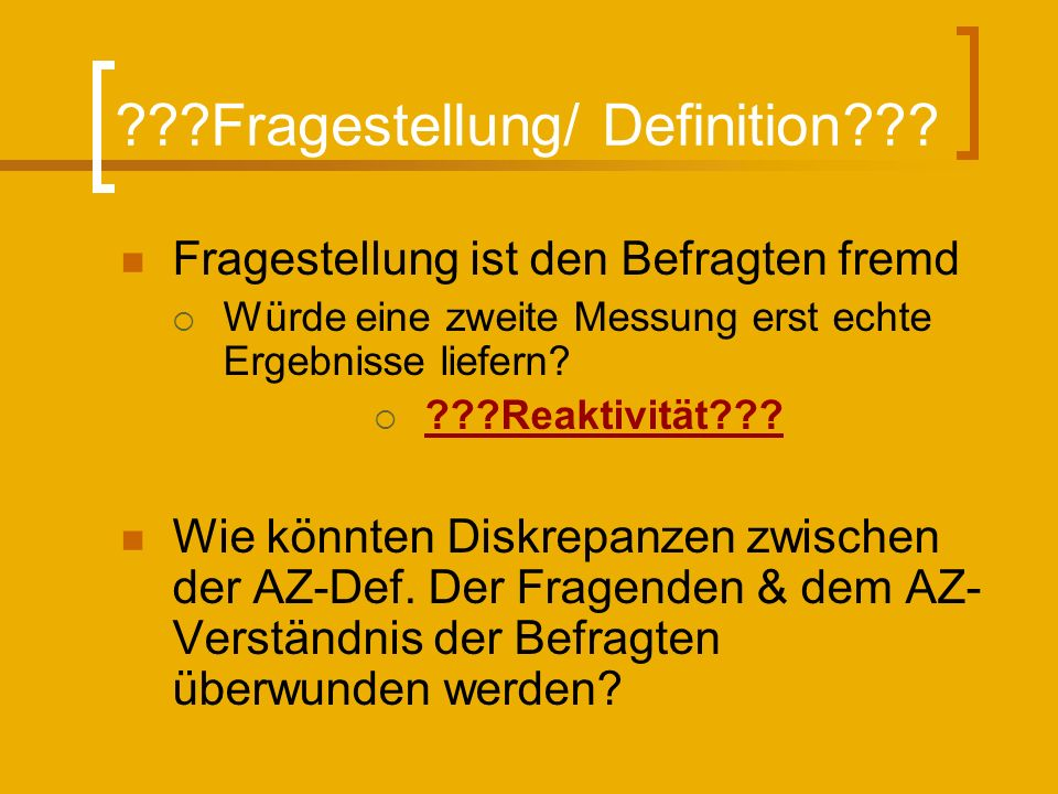 Fragestellung/ Definition