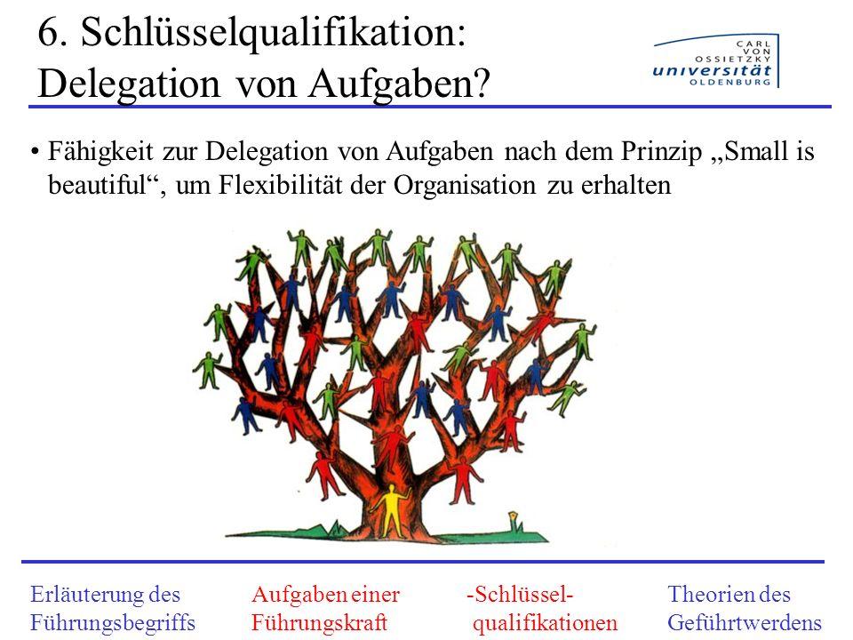 6. Schlüsselqualifikation: Delegation von Aufgaben