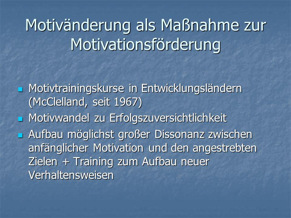 Motivänderung als Maßnahme zur Motivationsförderung