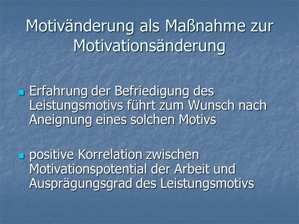 Motivänderung als Maßnahme zur Motivationsänderung