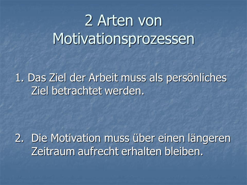 2 Arten von Motivationsprozessen