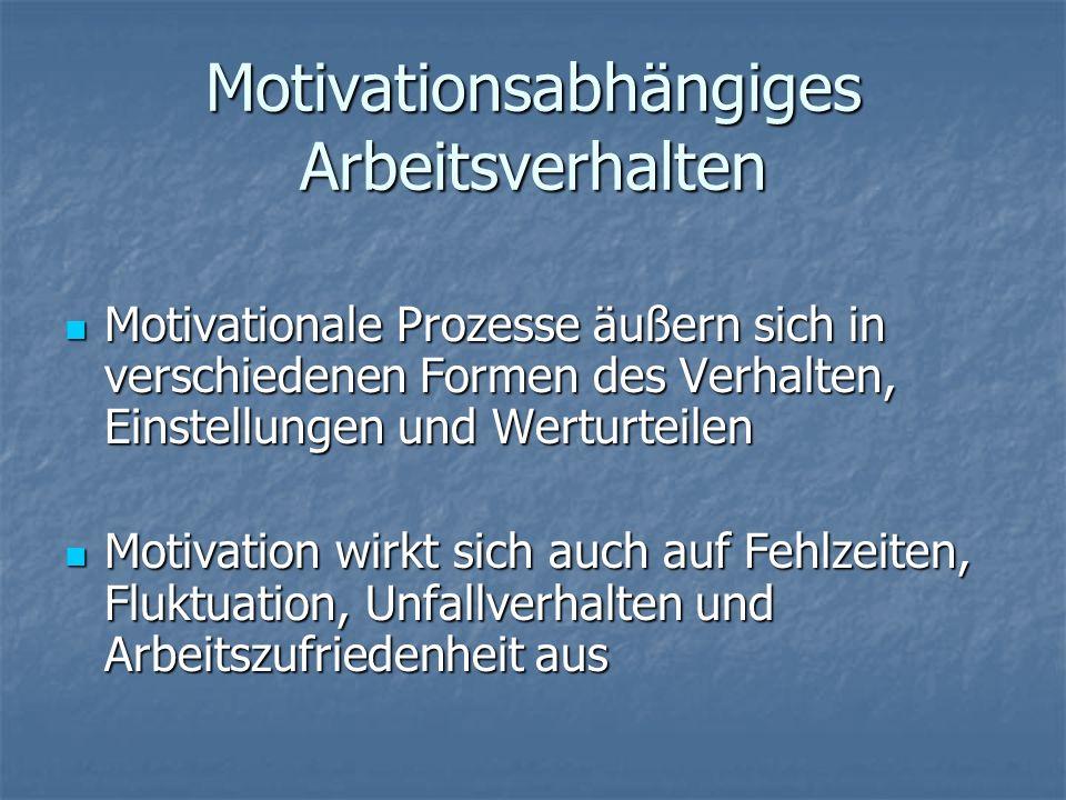 Motivationsabhängiges Arbeitsverhalten