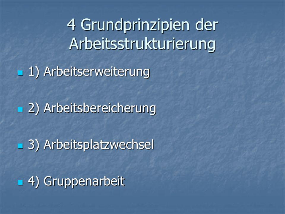4 Grundprinzipien der Arbeitsstrukturierung