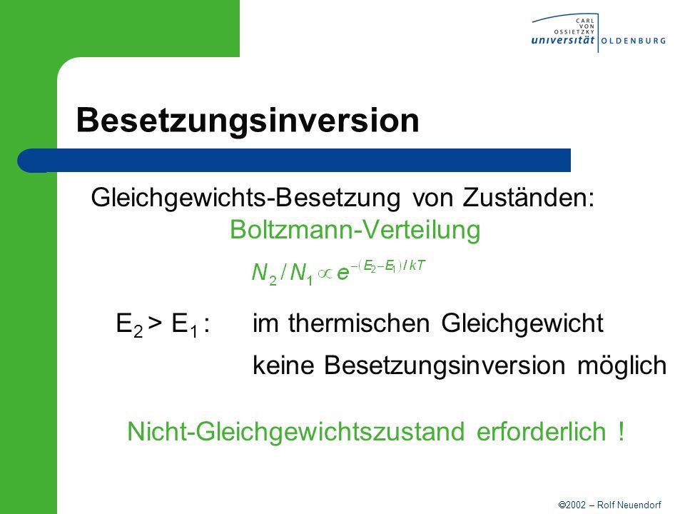 Gleichgewichts-Besetzung von Zuständen: Boltzmann-Verteilung
