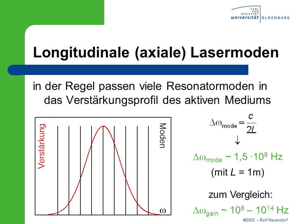 Longitudinale (axiale) Lasermoden