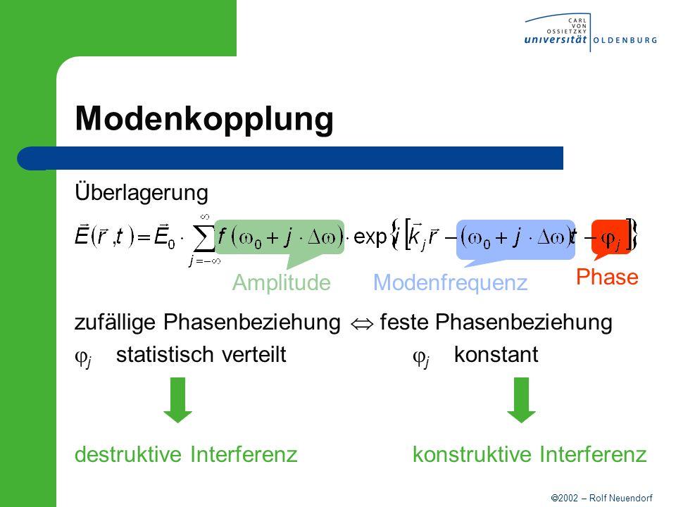 Modenkopplung Überlagerung Amplitude Modenfrequenz Phase