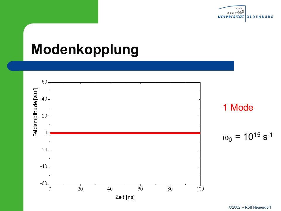 Modenkopplung 1 Mode w0 = 1015 s-1