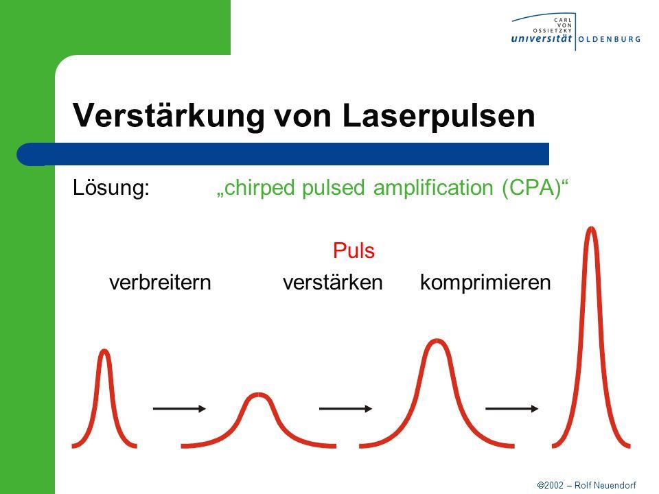 Verstärkung von Laserpulsen