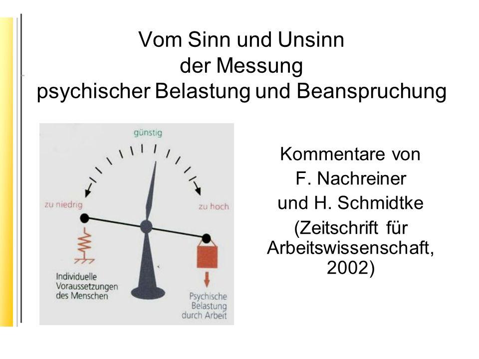 (Zeitschrift für Arbeitswissenschaft, 2002)