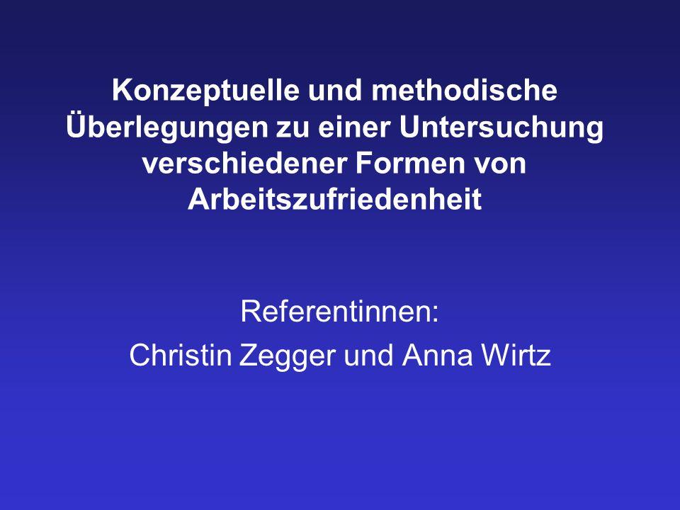 Referentinnen: Christin Zegger und Anna Wirtz