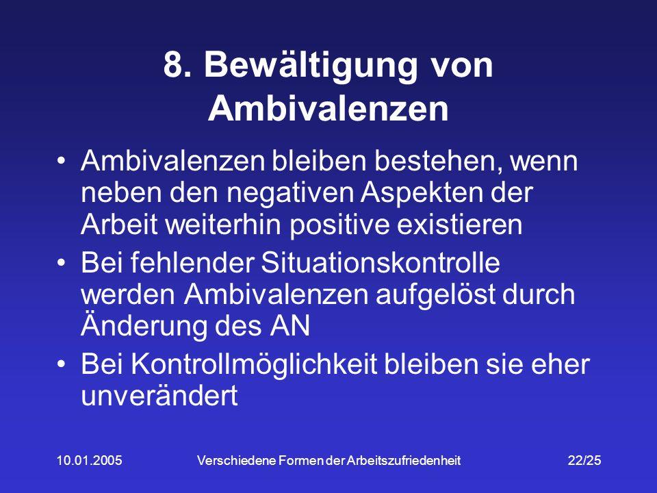 8. Bewältigung von Ambivalenzen
