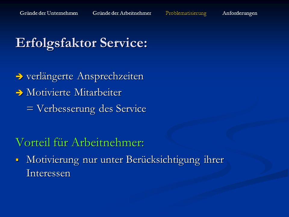 Erfolgsfaktor Service: