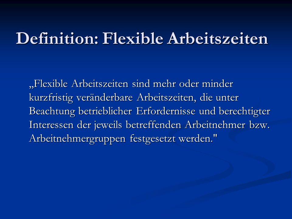 Definition: Flexible Arbeitszeiten