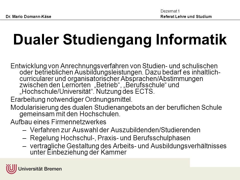Dualer Studiengang Informatik